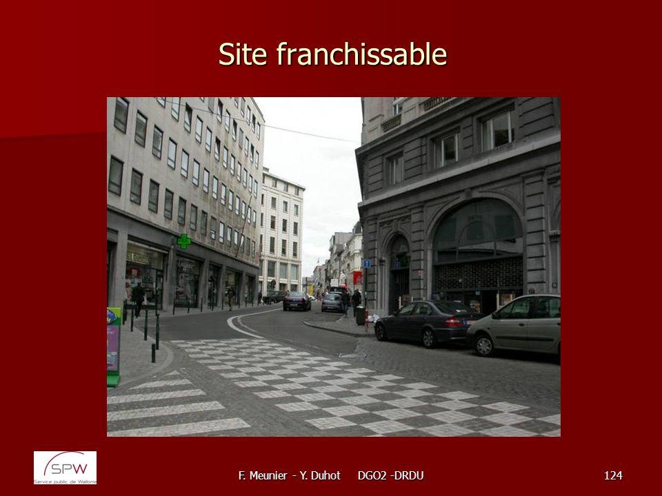 F. Meunier - Y. Duhot DGO2 -DRDU124 Site franchissable