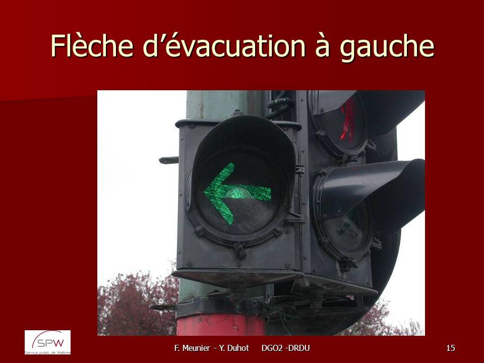 F. Meunier - Y. Duhot DGO2 -DRDU15 Flèche dévacuation à gauche
