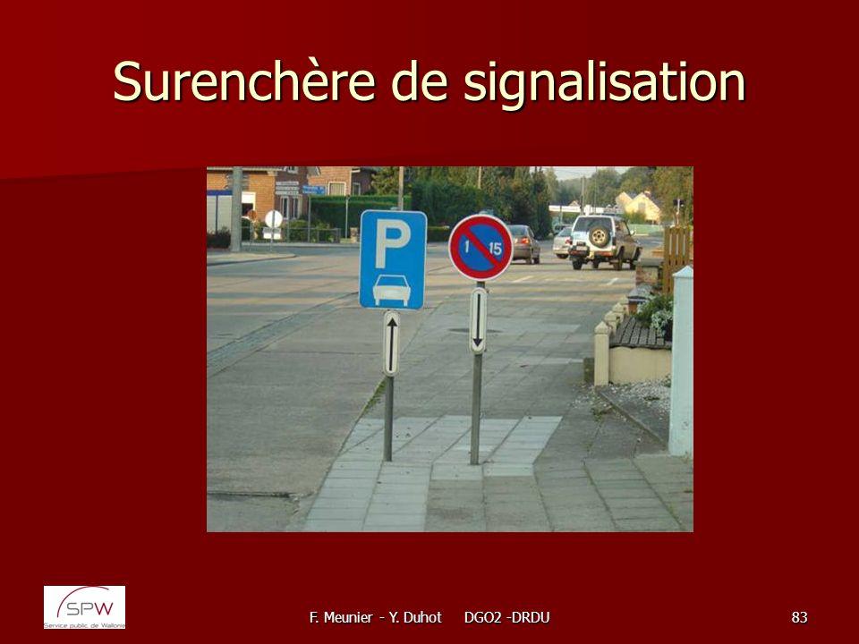 F. Meunier - Y. Duhot DGO2 -DRDU83 Surenchère de signalisation