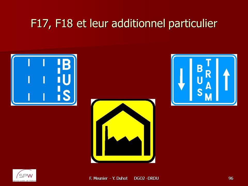 F. Meunier - Y. Duhot DGO2 -DRDU96 F17, F18 et leur additionnel particulier
