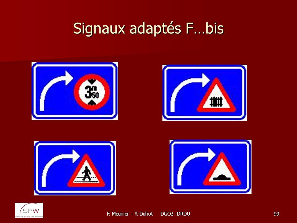 F. Meunier - Y. Duhot DGO2 -DRDU99 Signaux adaptés F…bis