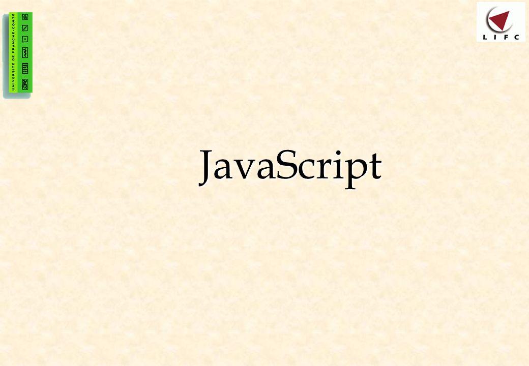 42 Nommage des objets-éléments Pour pouvoir manipuler un objet en javaScript, il doit posséder un nom Pour pouvoir manipuler un objet en javaScript, il doit posséder un nom Pour pouvoir distinguer les différents objets-éléments dune page web, il suffit de leur donner un nom à travers de lattribut NAME Pour pouvoir distinguer les différents objets-éléments dune page web, il suffit de leur donner un nom à travers de lattribut NAME – … Dans le cas où lobjet serait unique alors pas besoin de nom pour désigner cet objet Dans le cas où lobjet serait unique alors pas besoin de nom pour désigner cet objet –Exemple : le cas de BODY(une seul BODY par document), DOCUMENT (un seul DOCUMENT par fenêtre)