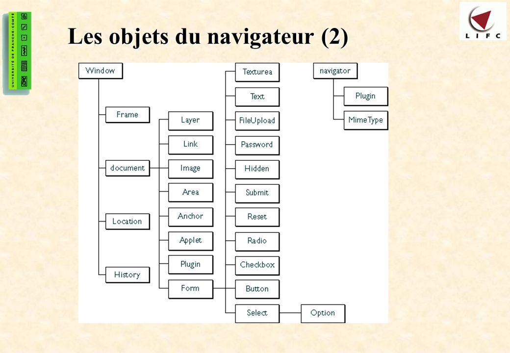 31 Les objets du navigateur (2)