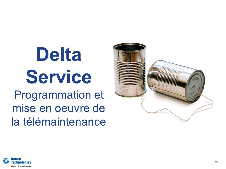 63 Delta Service Programmation et mise en oeuvre de la télémaintenance