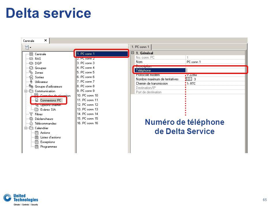 65 Delta service Numéro de téléphone de Delta Service