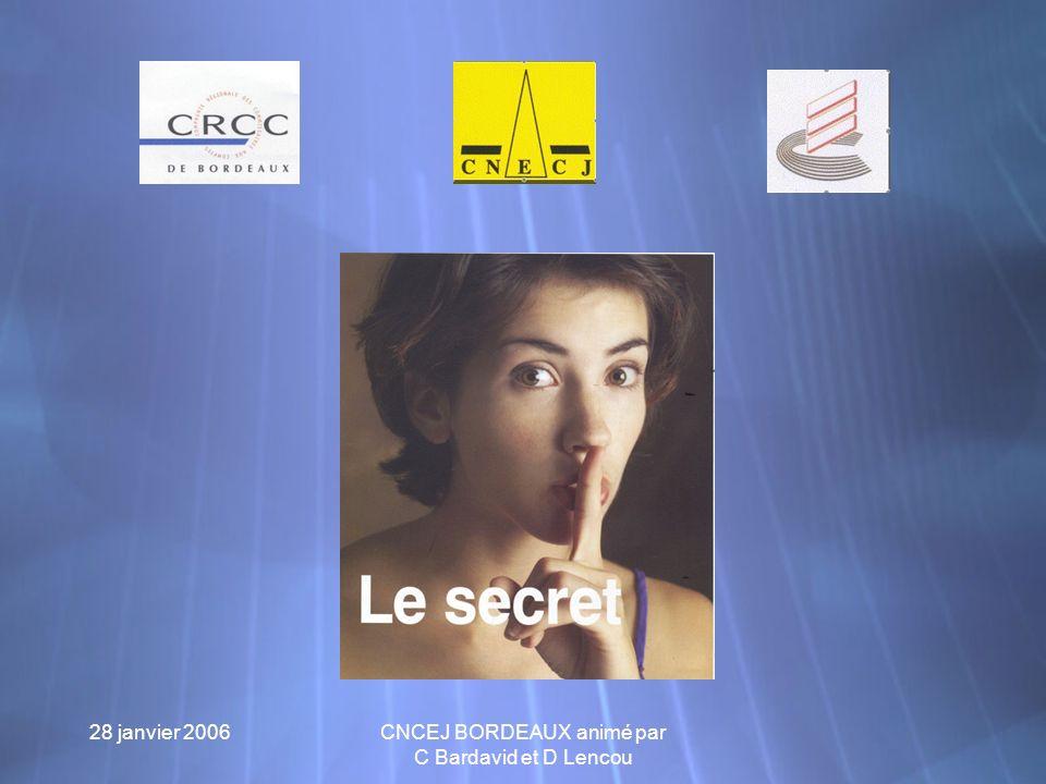 28 janvier 2006 CNCEJ BORDEAUX animé par C Bardavid et D Lencou