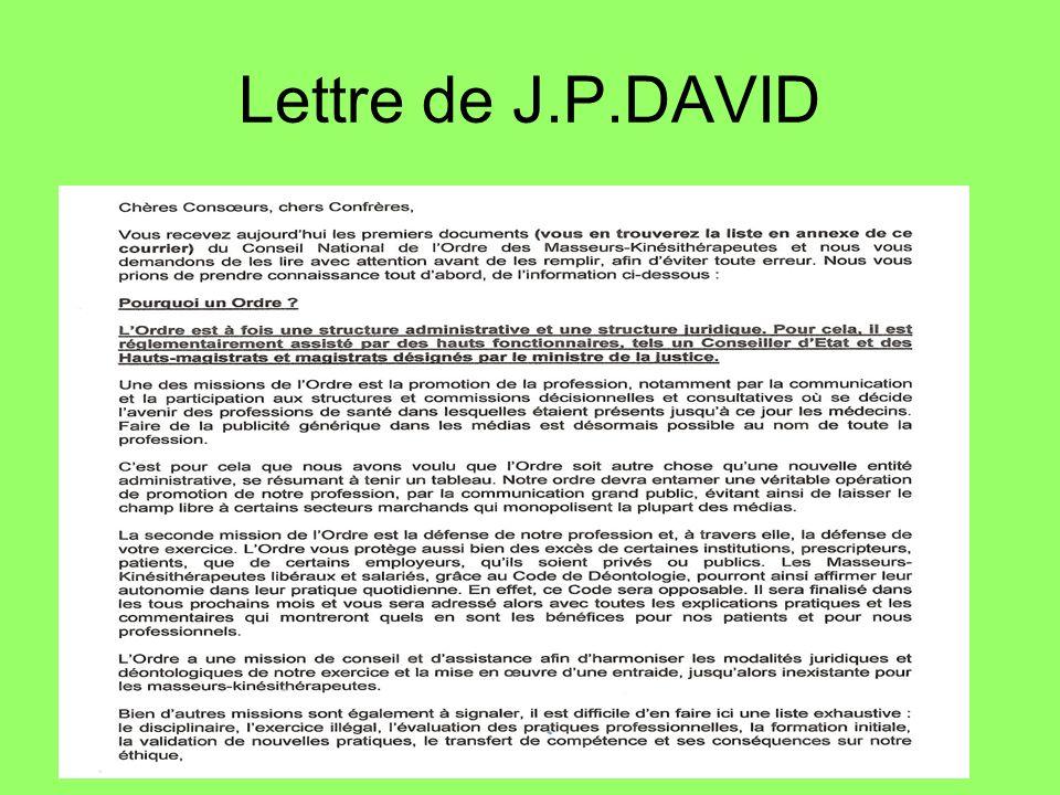 Lettre de J.P.DAVID