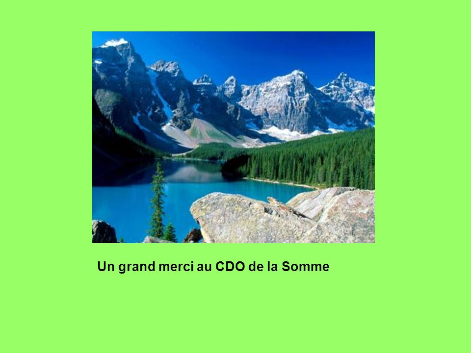 Un grand merci au CDO de la Somme