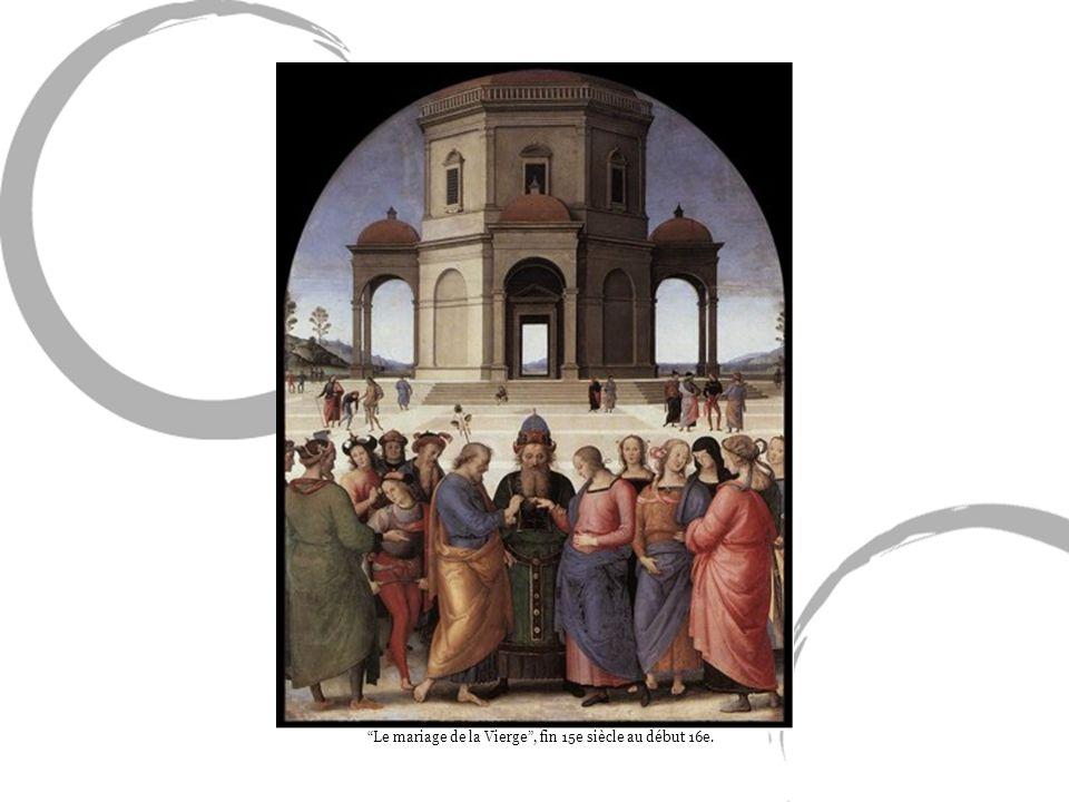 Le mariage de la Vierge, fin 15e siècle au début 16e.