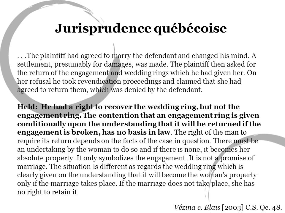 ...The plaintiff had agreed to marry the defendant and changed his mind.
