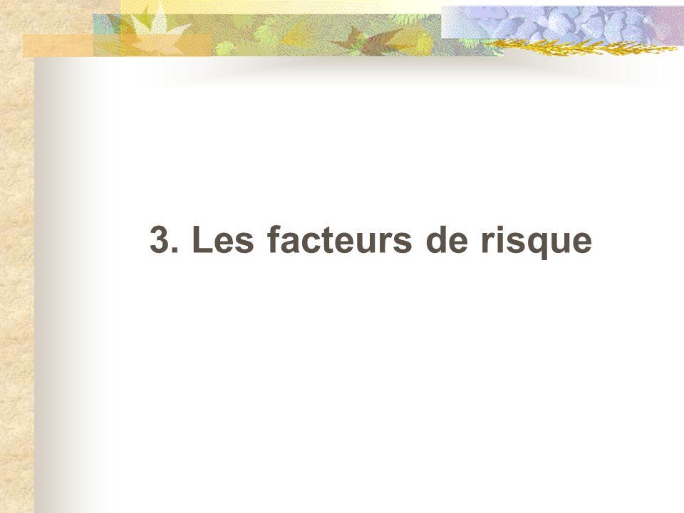 3. Les facteurs de risque