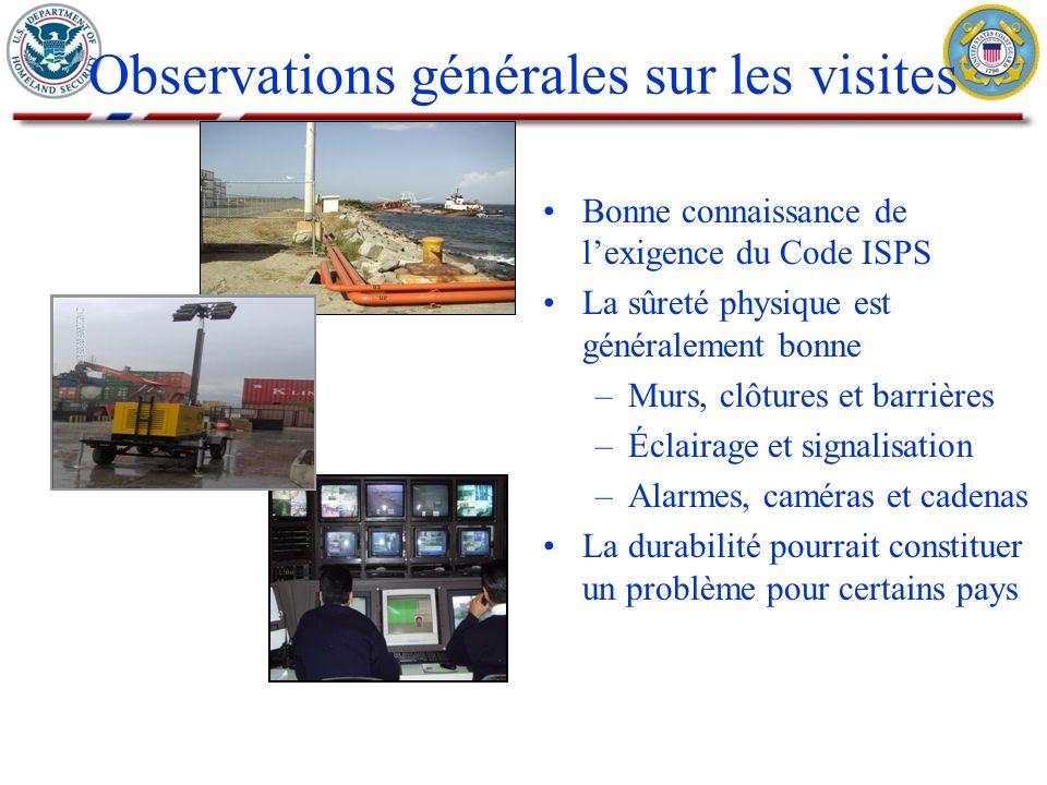 Il est essentiel de mettre en place des normes internationales de sûreté en vue de protéger les ports et les échanges commerciaux Le programme IPS vise à mieux faire comprendre lenvironnement de sûreté portuaire dans le monde Les É.-U.