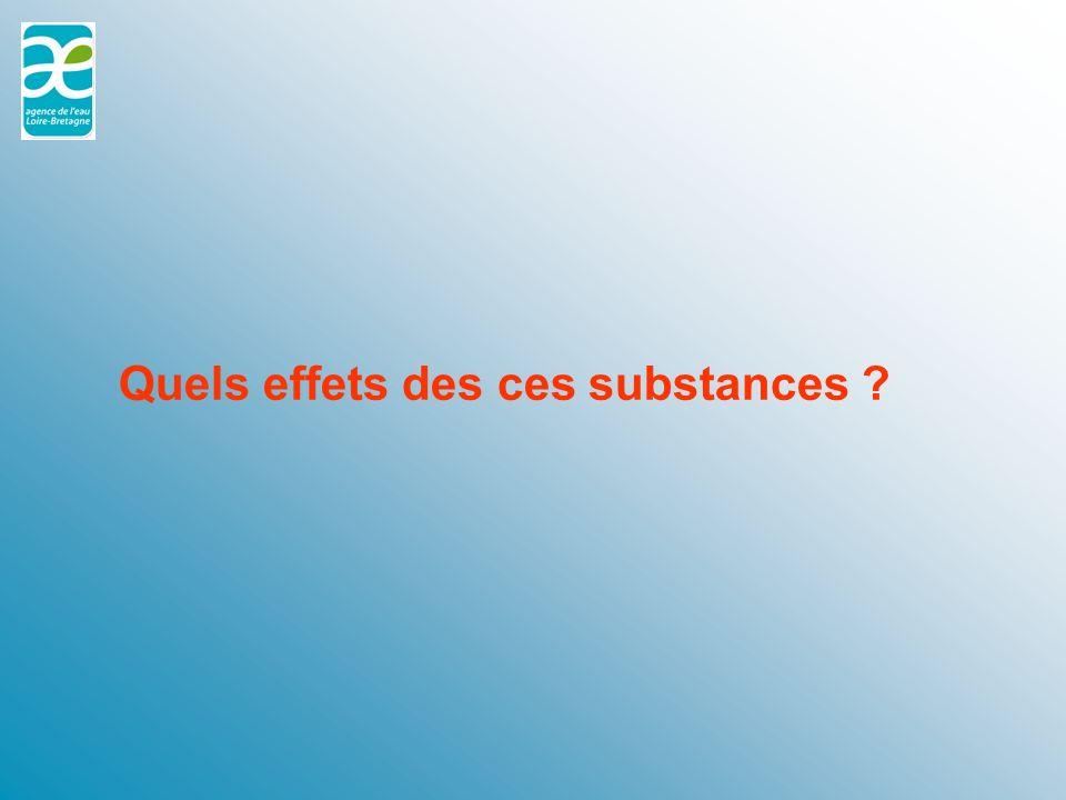 Quels effets des ces substances ?