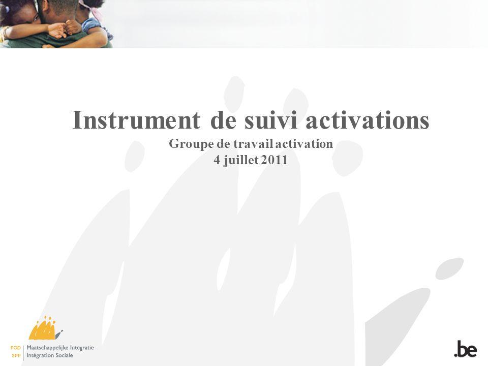 Instrument de suivi activations Groupe de travail activation 4 juillet 2011