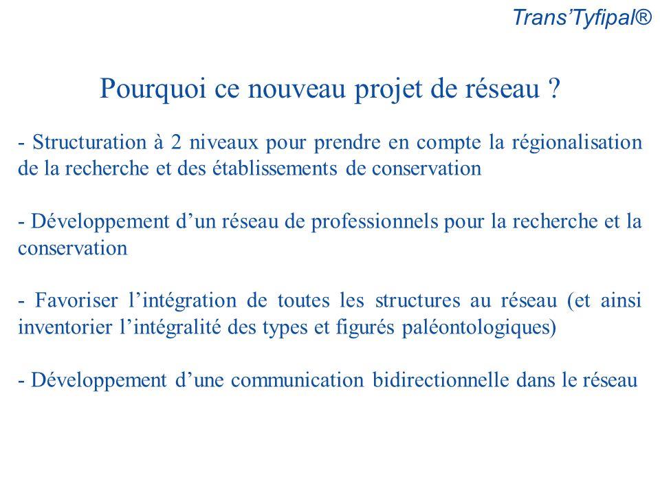 TransTyfipal® Pourquoi ce nouveau projet de réseau ? - Structuration à 2 niveaux pour prendre en compte la régionalisation de la recherche et des étab
