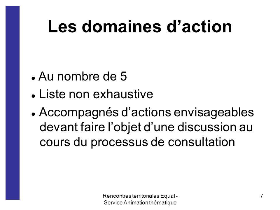 Rencontres territoriales Equal - Service Animation thématique 8 1.