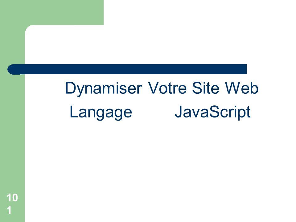 101 Dynamiser Votre Site Web Langage JavaScript