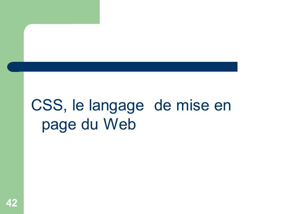 42 CSS, le langage de mise en page du Web