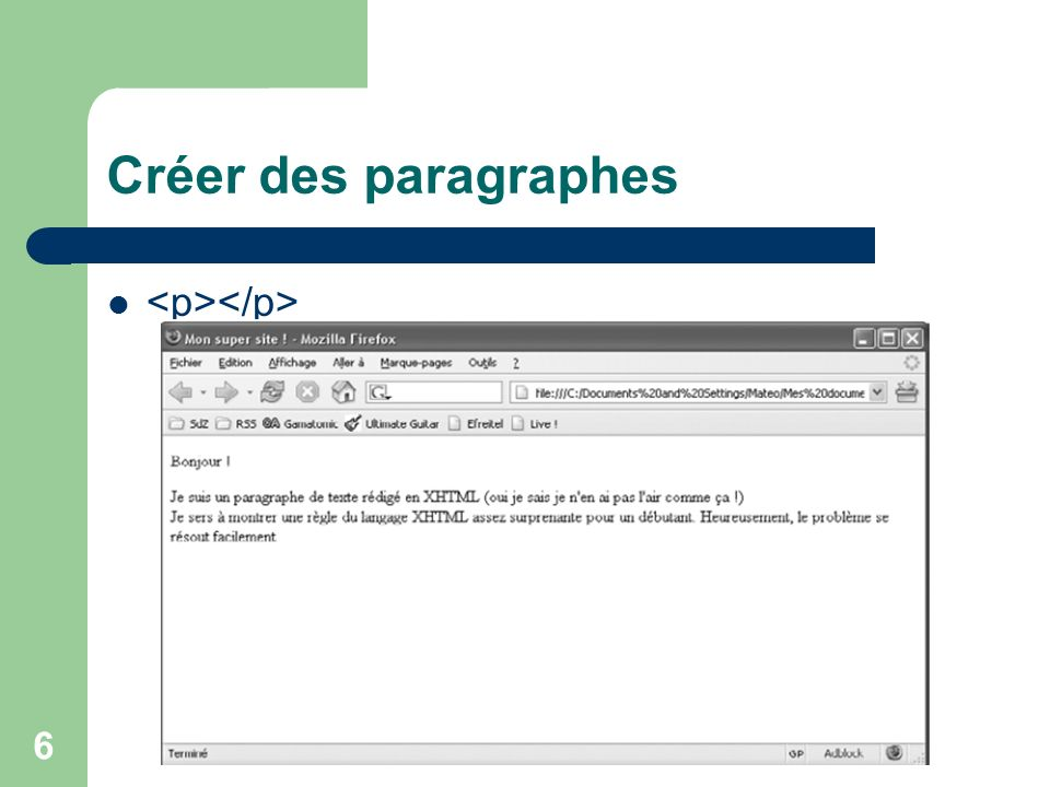 57 Appliquer un style à certaines balises id : un identifiant unique au niveau du page html Au niveau de la feuille css #valeur { propriéte: valeur; }