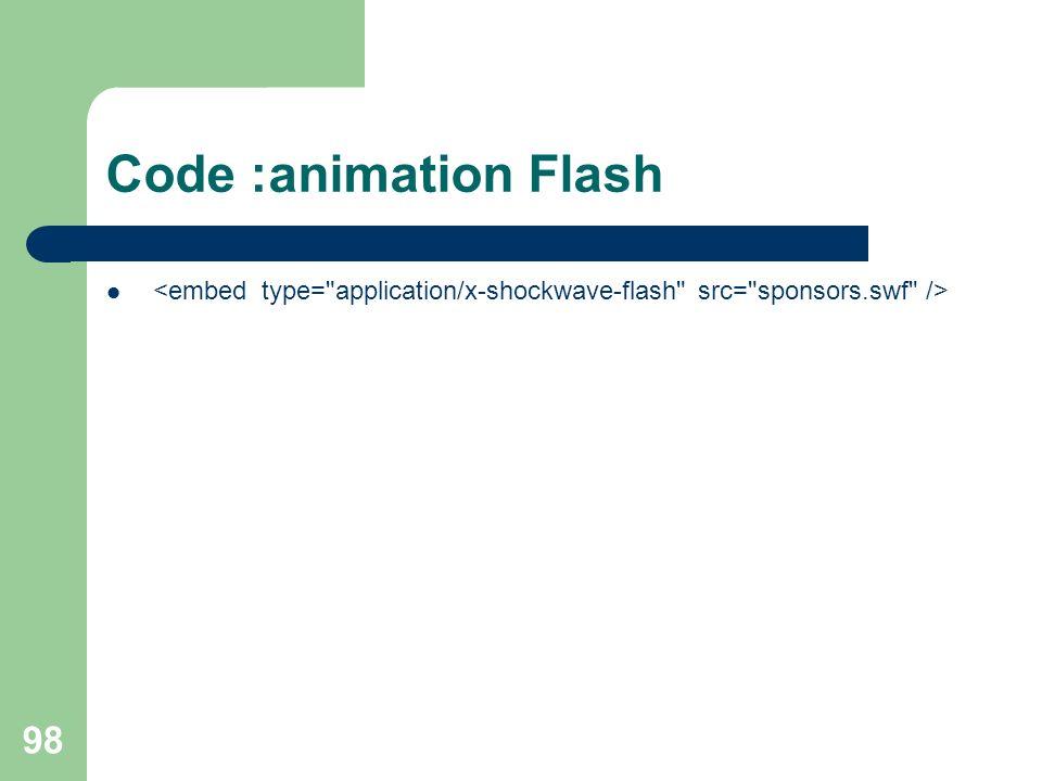 98 Code :animation Flash