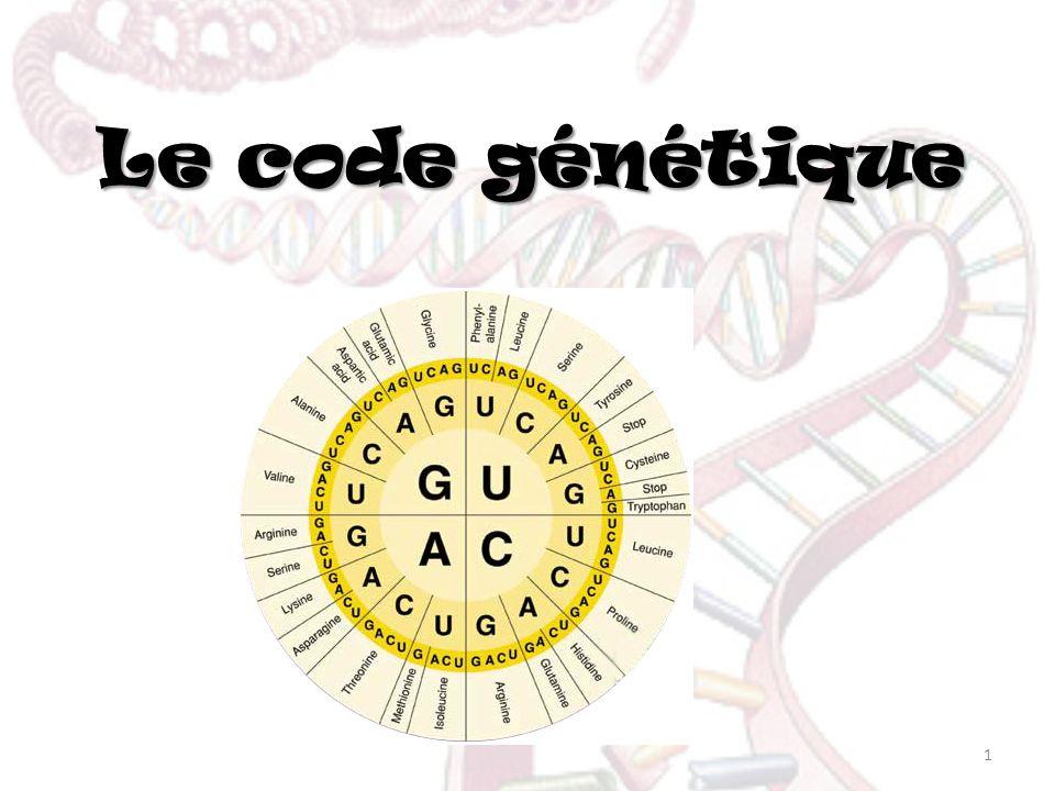 Le code génétique 1