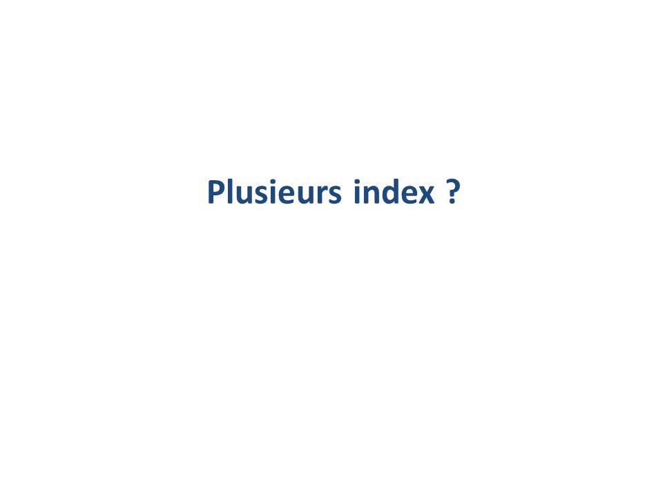 Plusieurs index ?