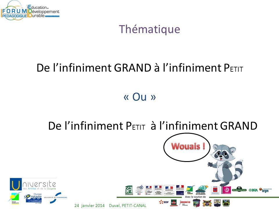 Thèmes à exposer Environnement Droit 24 janvier 2014 Duval, PETIT-CANAL