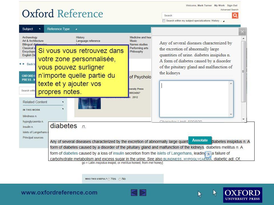 www.oxfordreference.com Les pages de contenu offrent toujours des liens soi à dautres contenus sassociant au même livre soi à travers le site web Oxford Reference.