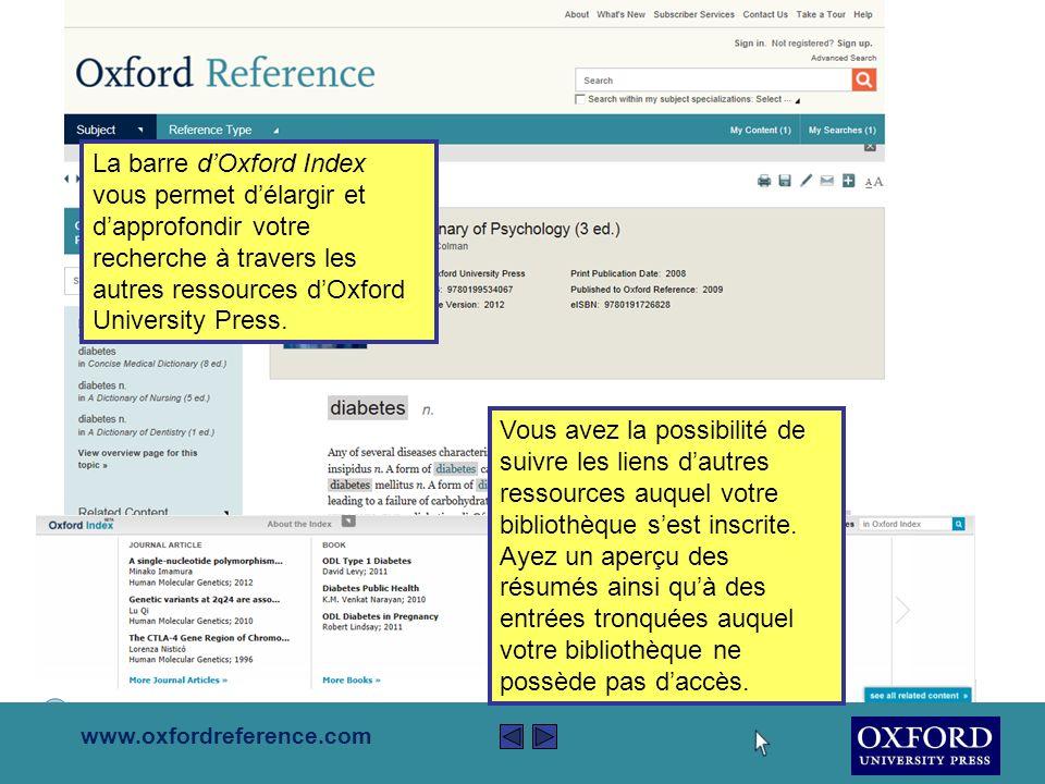 www.oxfordreference.com Si vous vous retrouvez dans votre zone personnalisée, vous pouvez surligner nimporte quelle partie du texte et y ajouter vos propres notes.