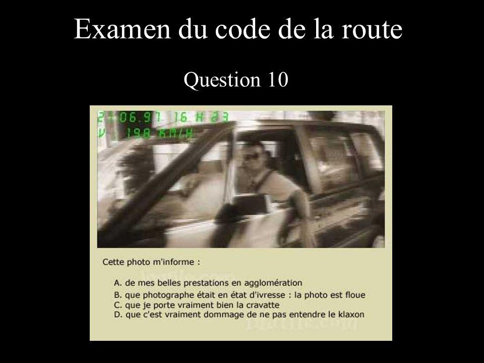 Examen du code de la route Question 10