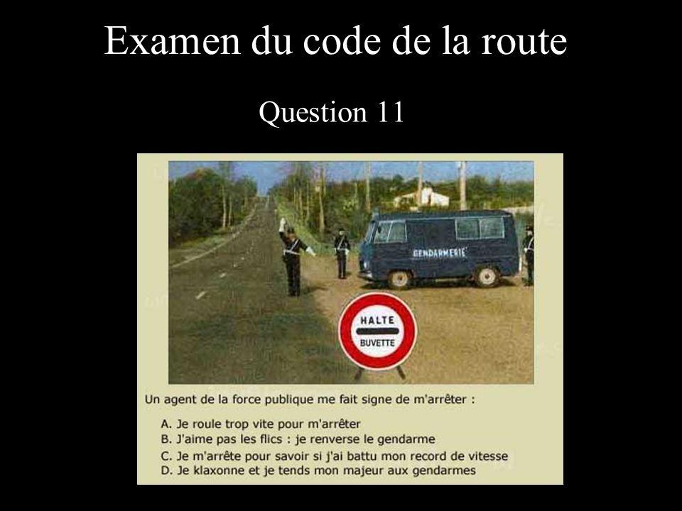 Examen du code de la route Question 11
