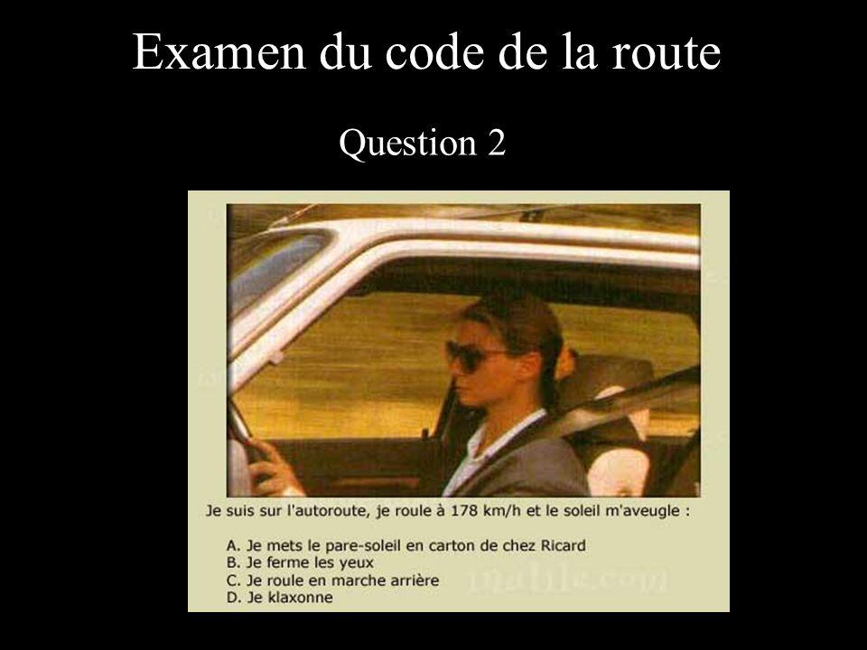 Examen du code de la route Question 3