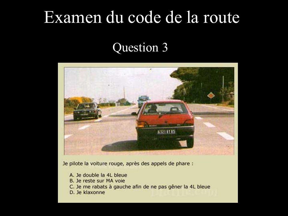 Examen du code de la route Question 14
