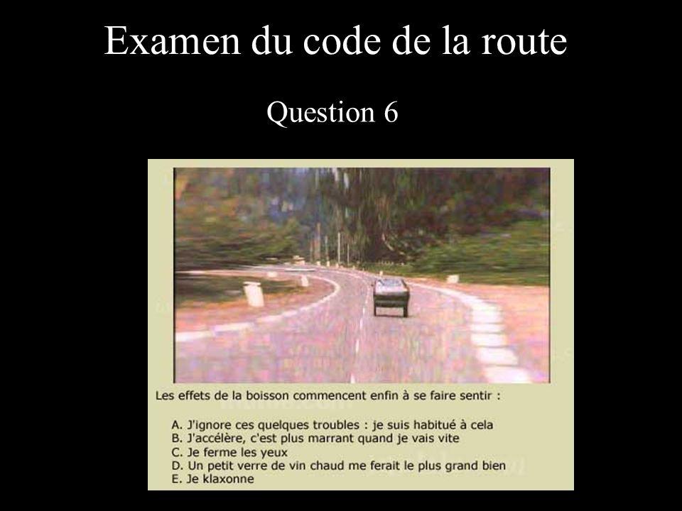 Examen du code de la route Question 7
