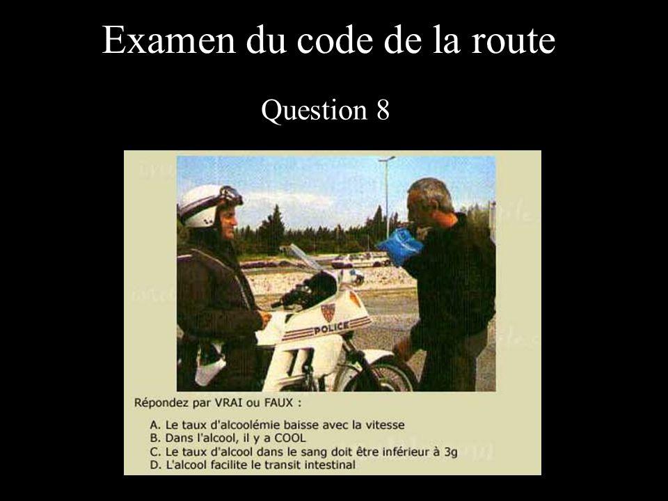 Examen du code de la route Question 8