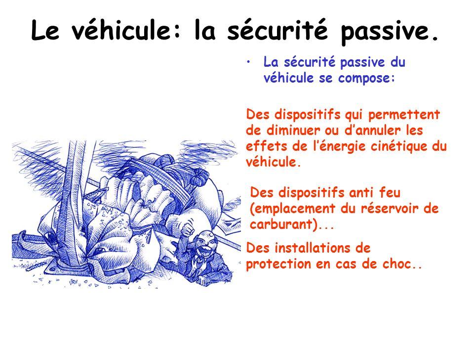 Le véhicule: la sécurité active. Dans la sécurité active on peut distinguer: Lergonomie (adaptation de la machine à lhomme. La géométrie (amélioration