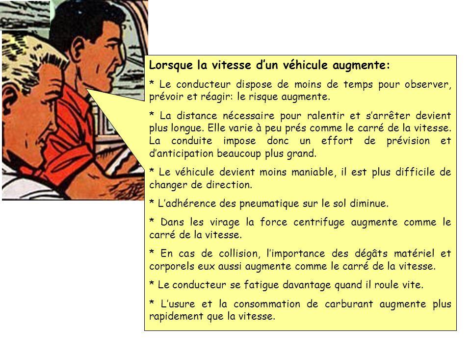 4: Action. Laction sera exécutée correctement grâce aux habiletés motrices du conducteur et à la maîtrise du véhicule quil conduit. Pendant exécution,