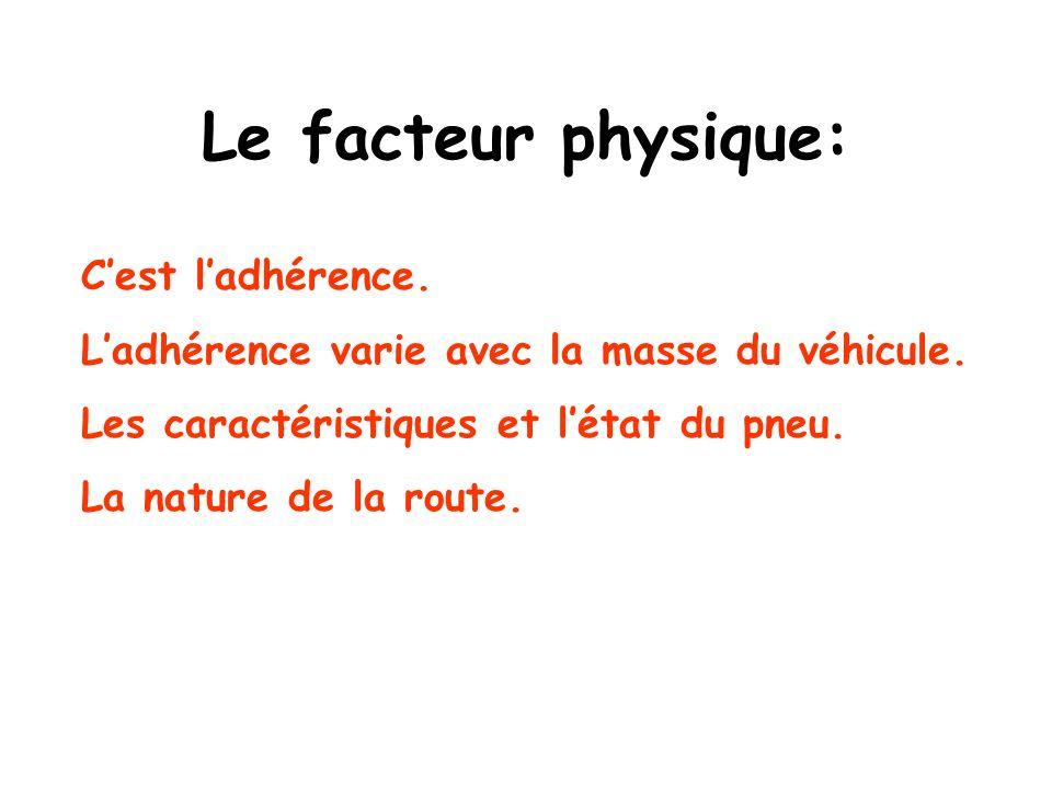 Le facteur mécanique: Le ralentissement des roues est obtenu par frottement dun élément fixe du châssis sur un élément solidaire de la roue en rotation.