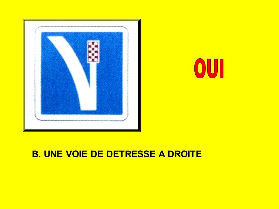 B. UNE VOIE DE DETRESSE A DROITE