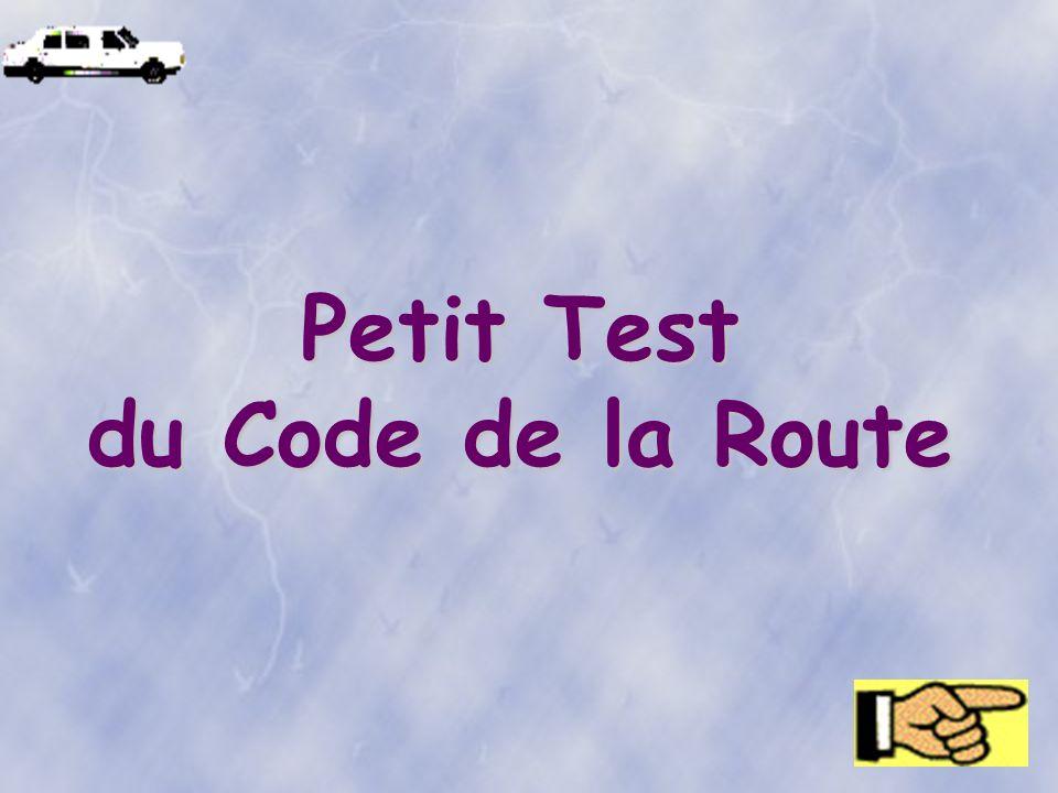 Petit Test du Code de la Route