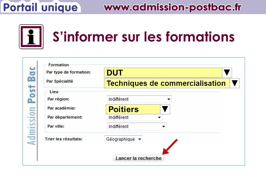 DUT Techniques de commercialisation Poitiers Sinformer sur les formations