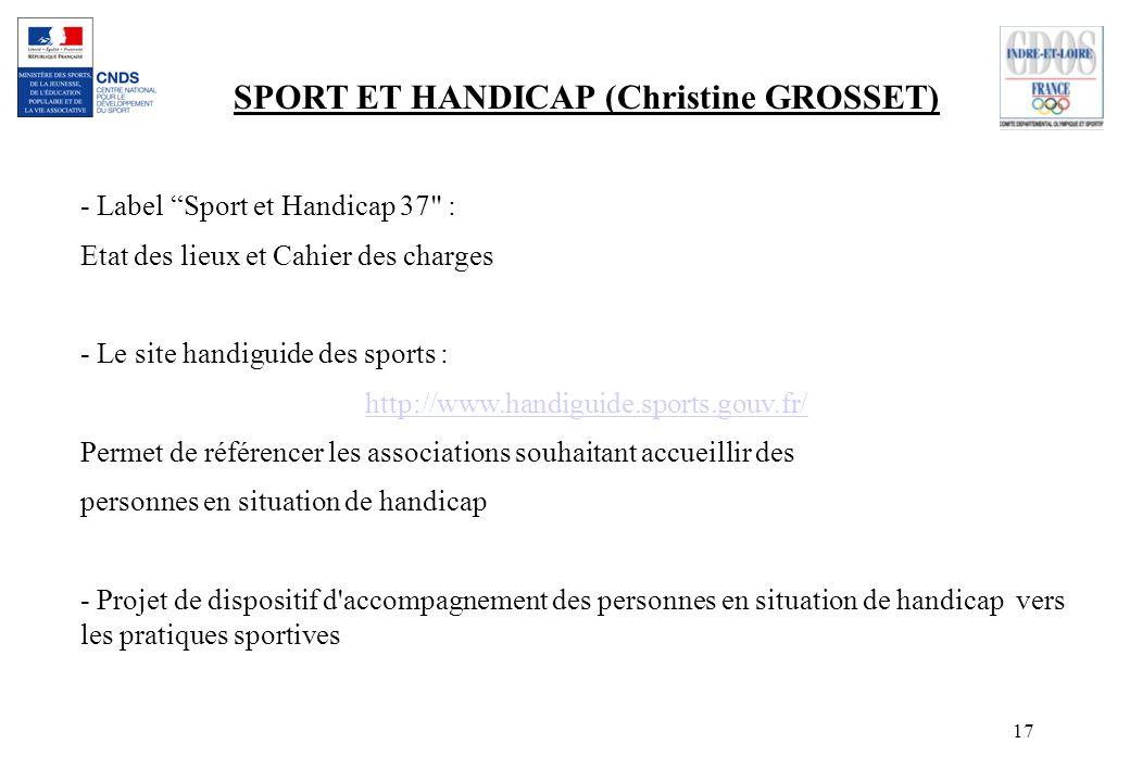 17 SPORT ET HANDICAP (Christine GROSSET) - Label Sport et Handicap 37