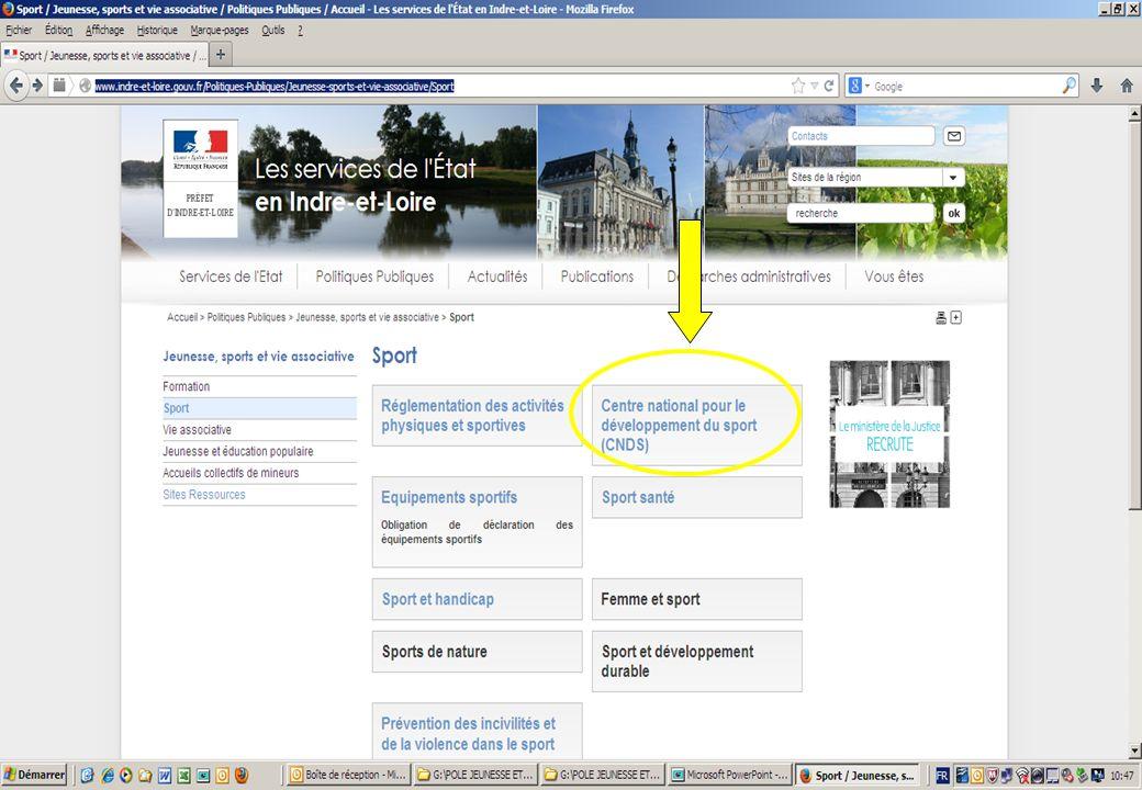 18 Procédures CNDS 2014: Lensemble des informations sont disponibles sur : http://www.indre-et-loire.gouv.fr/