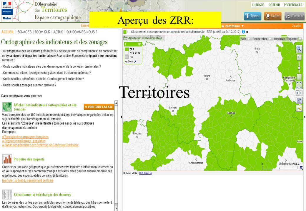 8 Aperçu des ZRR: Territoires