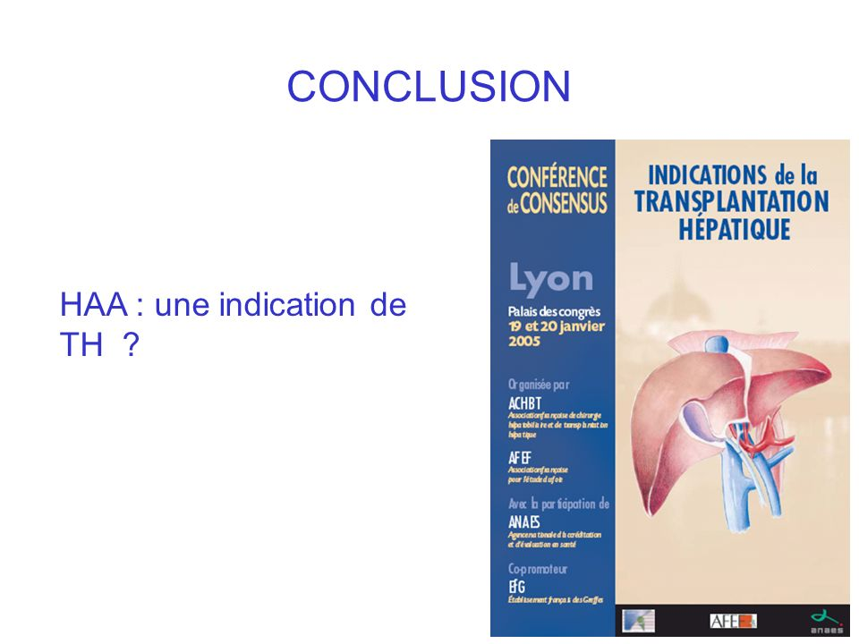 CONCLUSION HAA : une indication de TH ?