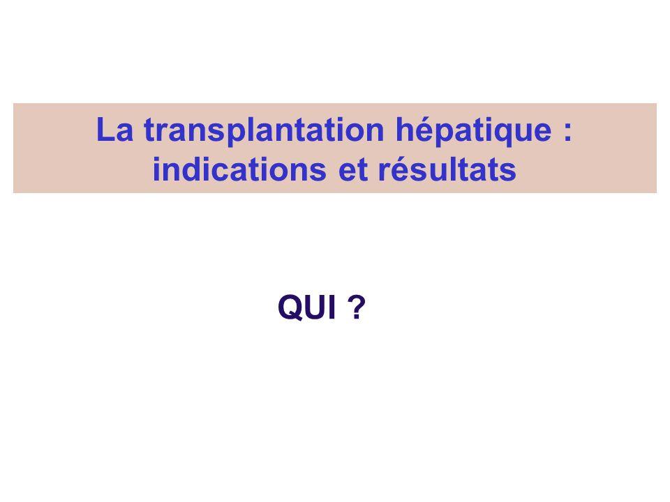 La transplantation hépatique : indications et résultats QUI ?