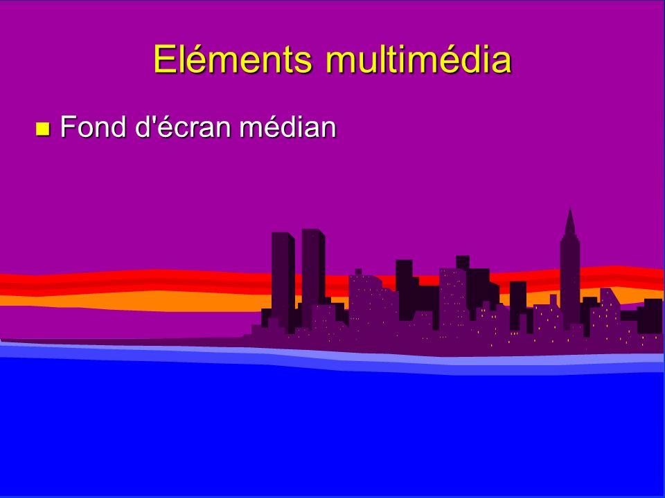 Eléments multimédia n Fond d'écran médian