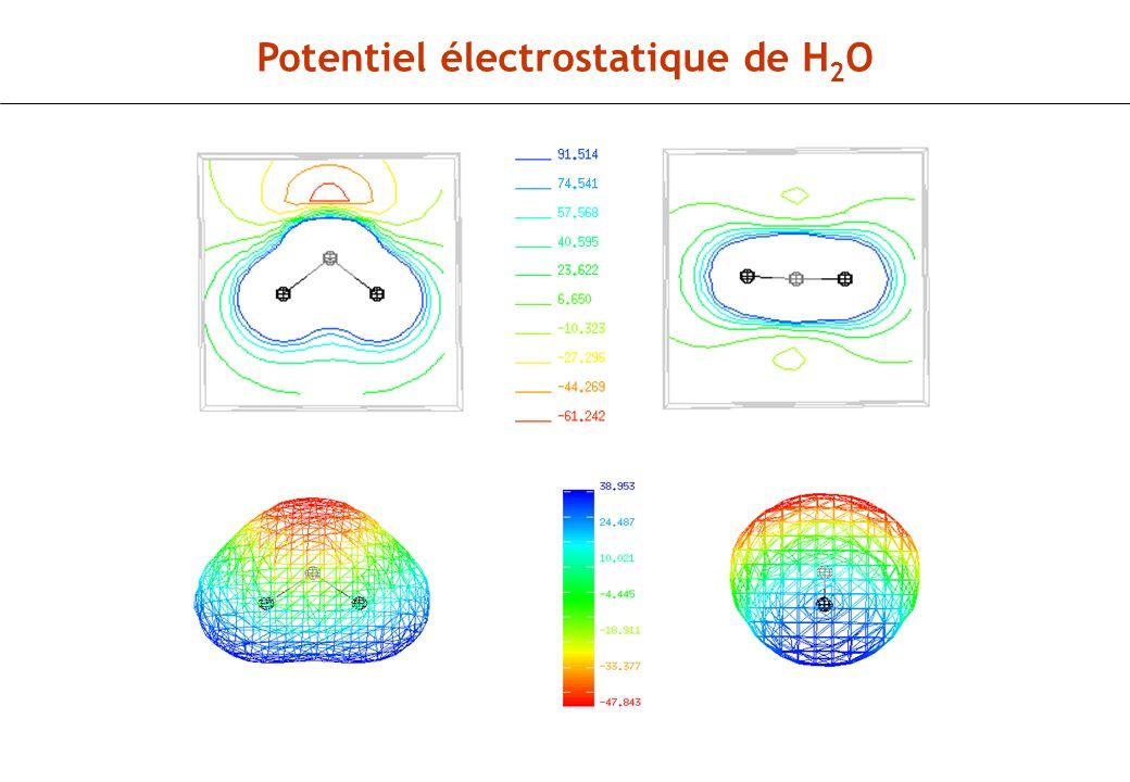 Potentiel électrostatique de H 2 O
