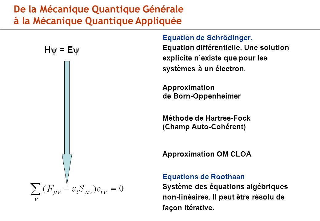 H = E Equation de Schrödinger.Equation différentielle.