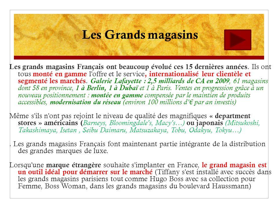 Les grands magasins Français ont beaucoup évolué ces 15 dernières années. Ils ont tous monté en gamme l'offre et le service, internationalisé leur cli
